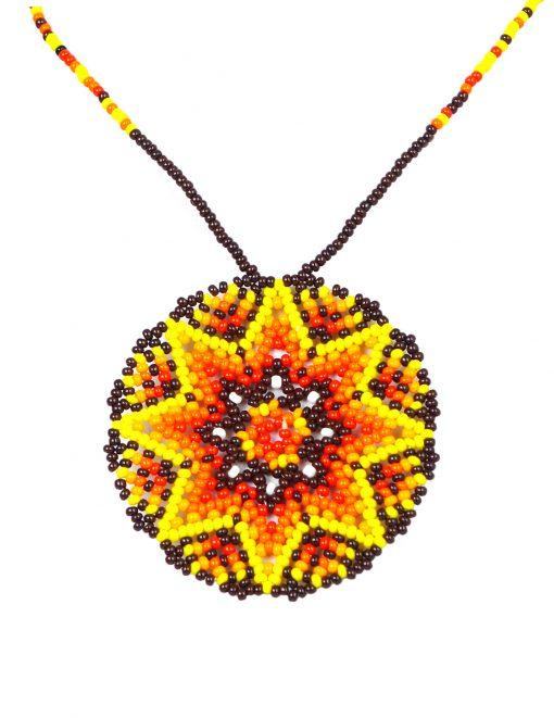 Halskette Huichol