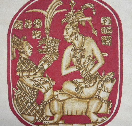 Mexikanische Wanddeko: Pirograbado Maya