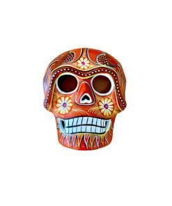 Totenkopf aus Keramik